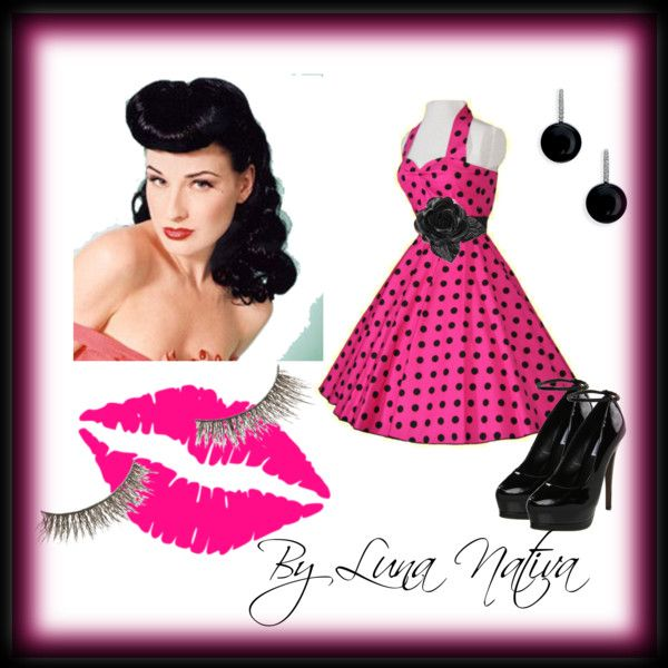Pink Pin Up, created by Luna Nativa