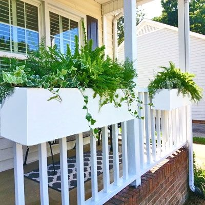 24 new age modern hanging rail planters new place deck railing planters railing planters. Black Bedroom Furniture Sets. Home Design Ideas