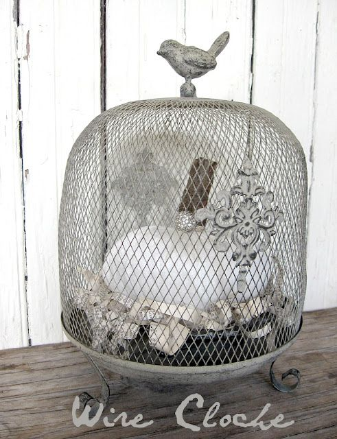 Modern Chicken Wire Bell Cloche Photo - Everything You Need to Know ...
