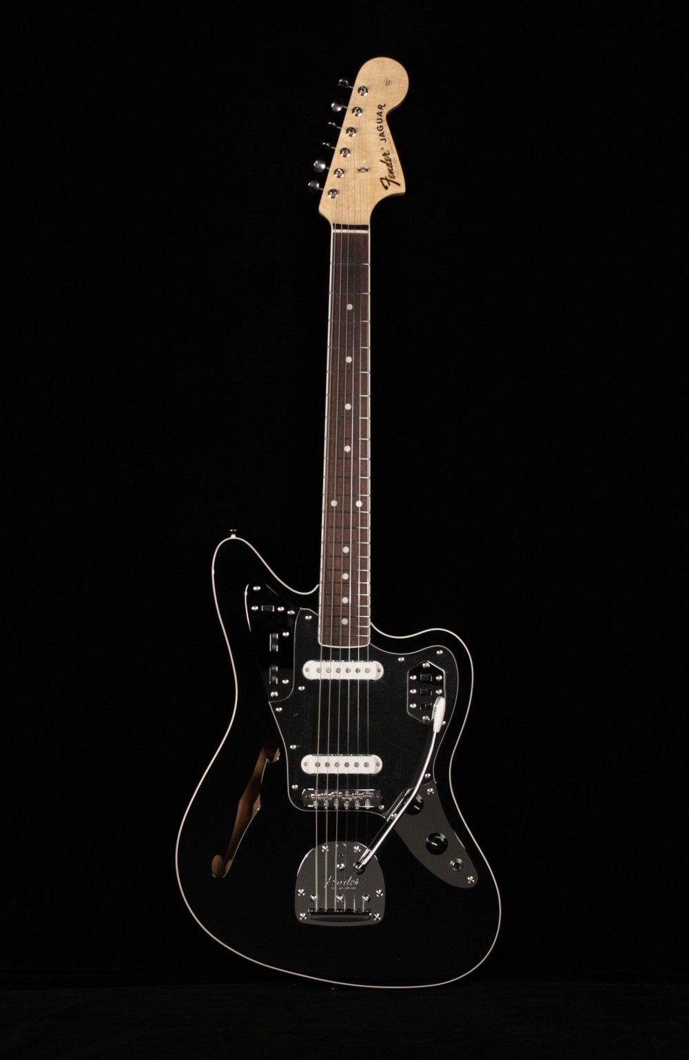 fender special edition jaguar thinline: what????! a thinline