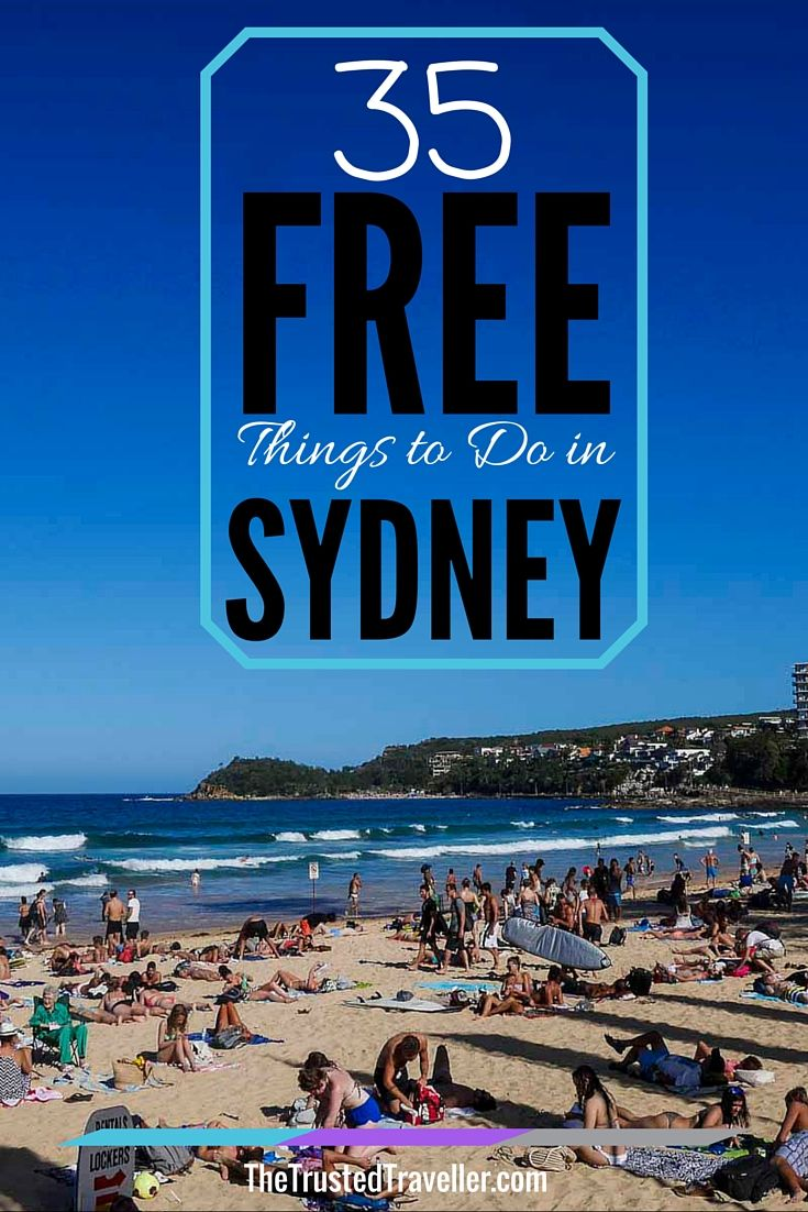Chill on one of Sydney's best beaches, Manly Beach - 35 Free Things to Do in Sydney - The Trusted Traveller
