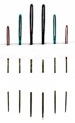 Pony Colour Eye Tapestry Needle - Size 24/28 I haaave to have these.  $2.99 at Nordic Needle.