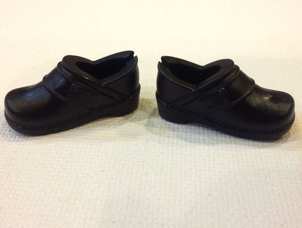 1b281f3dc2fe Details about New out of Box Mattel Barbie HEELS SHOES black slip on ...