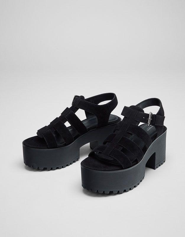 Sandalia Calzado Mujer Últimas Novedades Cangrejera Tacón AqPAwfZ