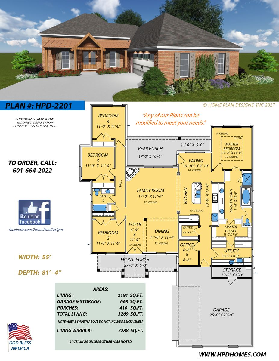 Custom And Stock Home Designs By Judson Wallace Of Home Plan Designs Flowood Ms House Plans Dream House Plans Dream House