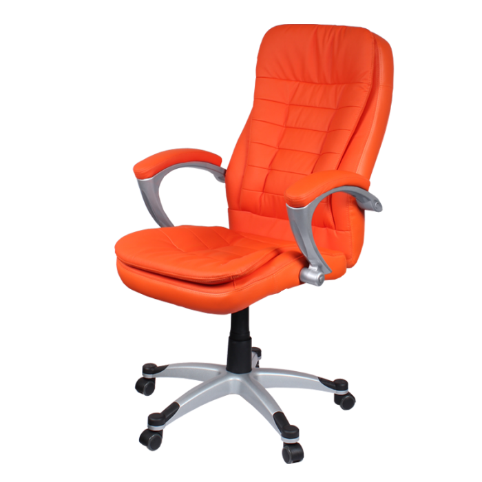 orange leather office chair | leather office chair | pinterest