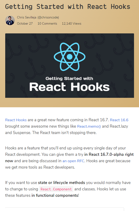 Getting Started with React Hooks | React JS | Get started