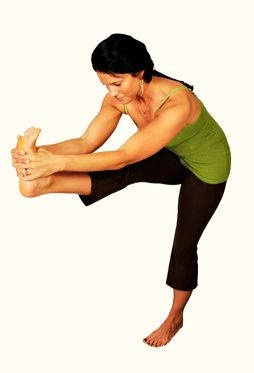 standing head to knee yoga is also known as utthitta hasta