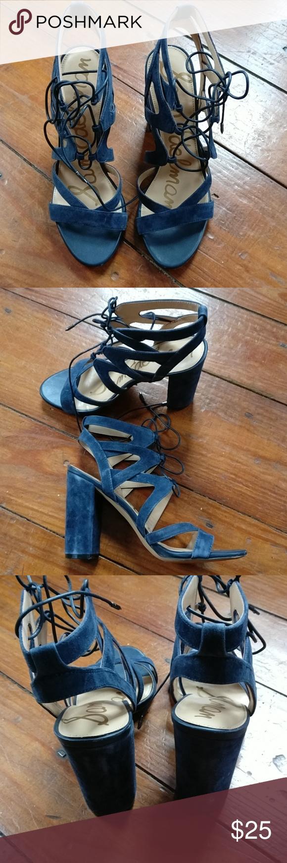 6b795766d50dd8 Sam Edelman Women s Yardley Dress Sandal Used condition inky navy Sandals  Sam Edelman Shoes Sandals