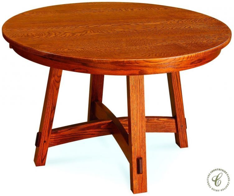 Rosales Round Table With Leaves Amish Furniture Round Table With Leaf Table