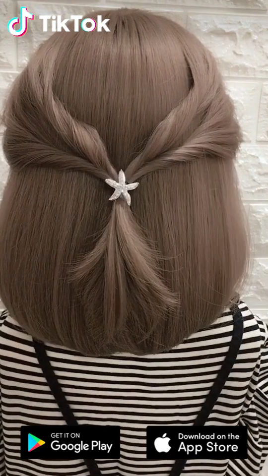 Super Easy To Try A New Hairstyle Download Tiktok Today To Find More Amazing Videos Also You Can Post Videos To Show Yo Hair Hair Videos Short Hair Styles