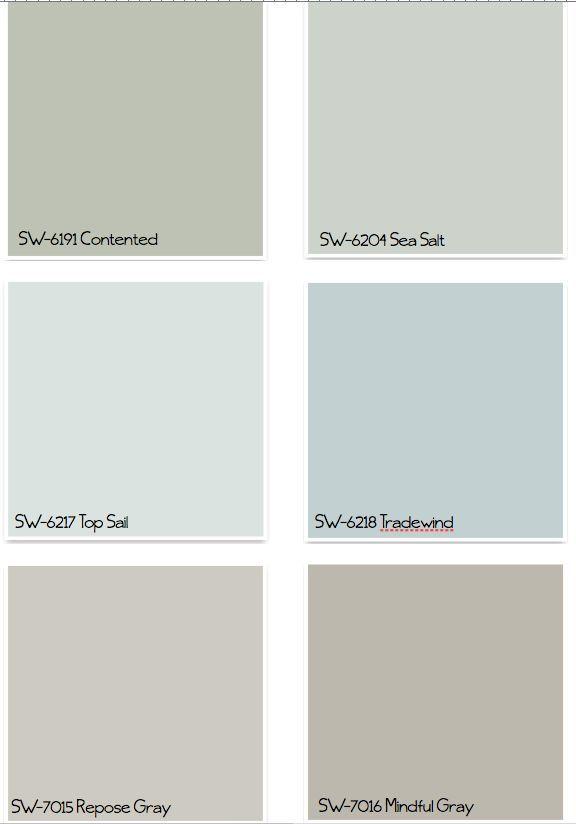 Charming Paint Colors Of Gray Part - 12: 22 Amazing Kitchen Makeovers. Coastal Paint ColorsPaint ...