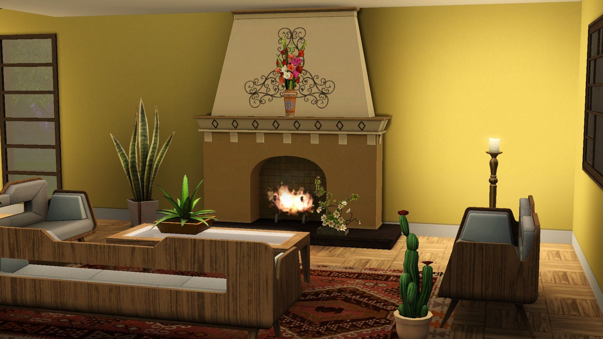 Mexican inspired modern living room the sims 3