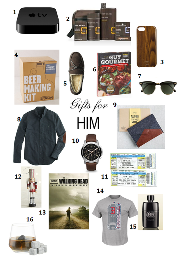 Gifts For Him #giftguide http://goldstripes.weebly.com/1/post/2013/12/gifts-for-him.html