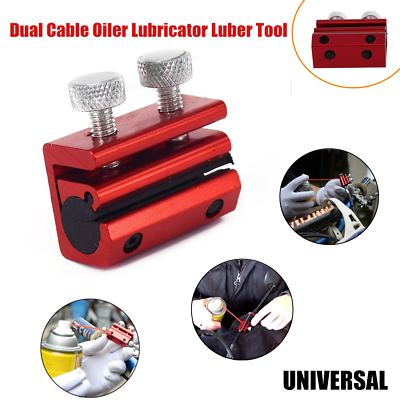 1 Motorcycle Dual Cable Oiler Lubricator Luber Tool Brake Grease Clutch 2 Bolts In 2020 Clutch Bolt Motorcycle Hand Guards