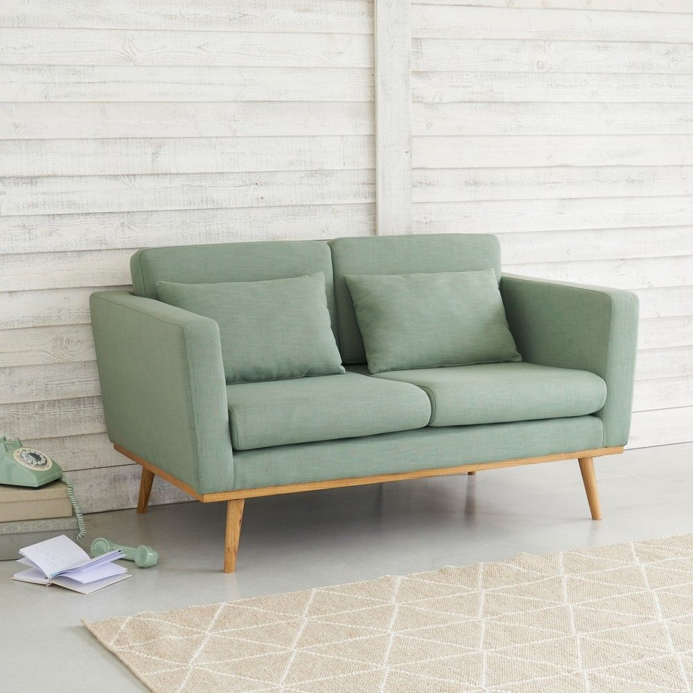 Lovat Green Vintage 2 Seater Sofa Maisons Du Monde Living Room Decor Curtains Vintage Sofa Sofas For Small Spaces