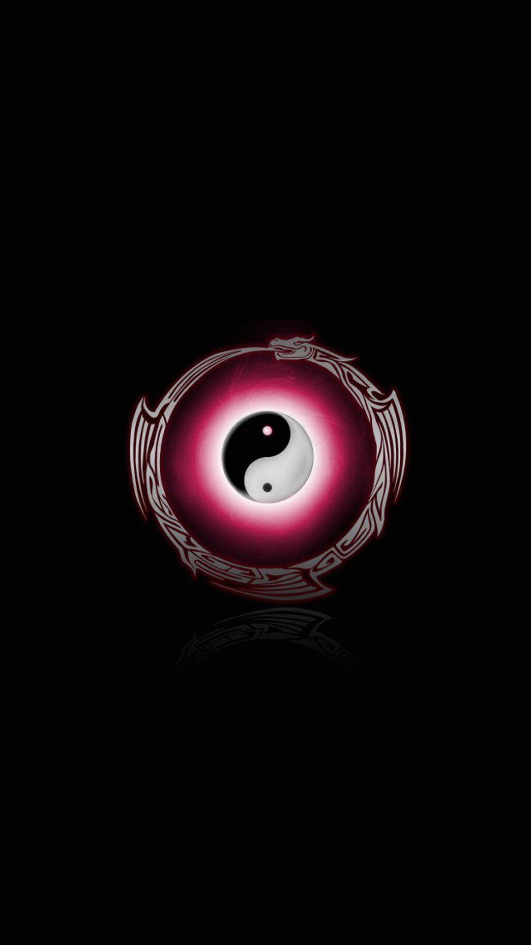 Yin Yang A Clockwise Taijitu Surrounded By A Counterclockwise Dragon Enso Yin Yang S5 Wallpaper Yin Yang Art