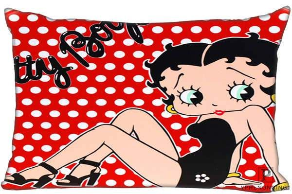 Betty Boop Square Pillowcases zipper