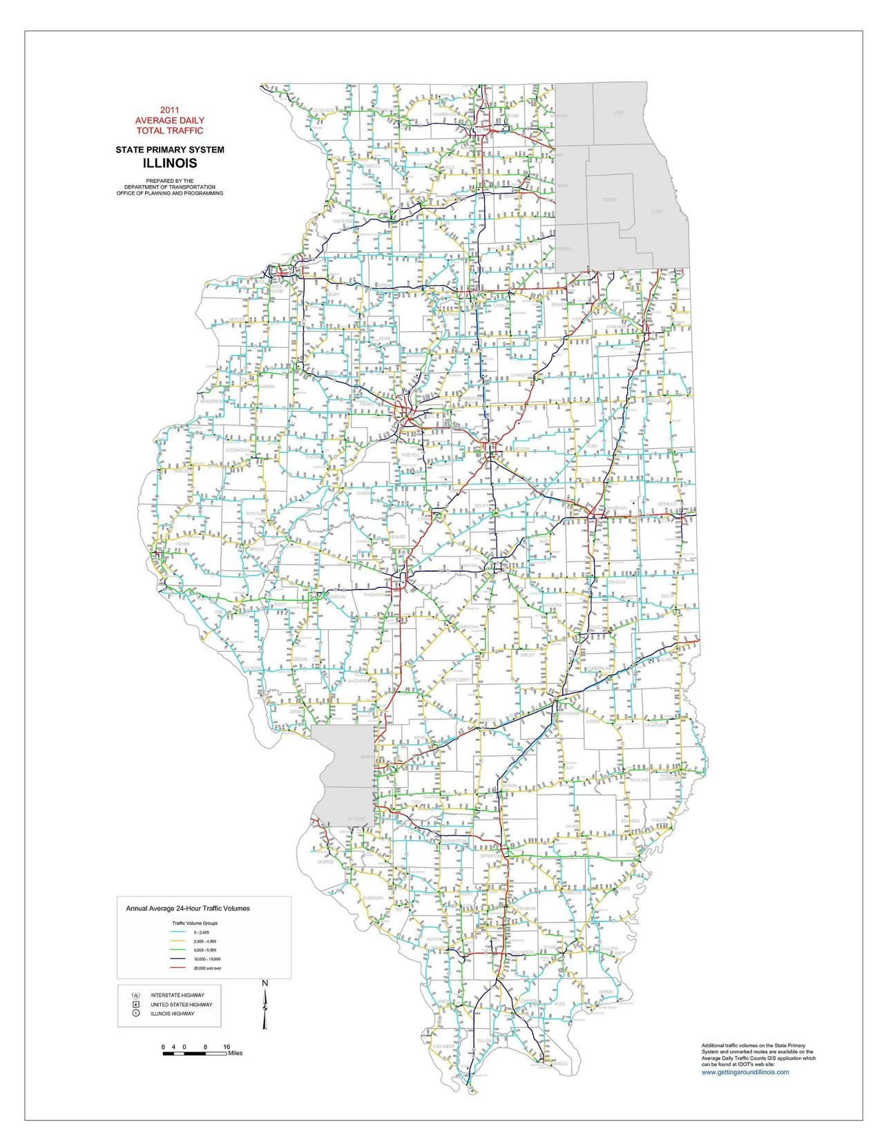 Illinois Traffic Count Map Maps Pinterest Map Map Art And