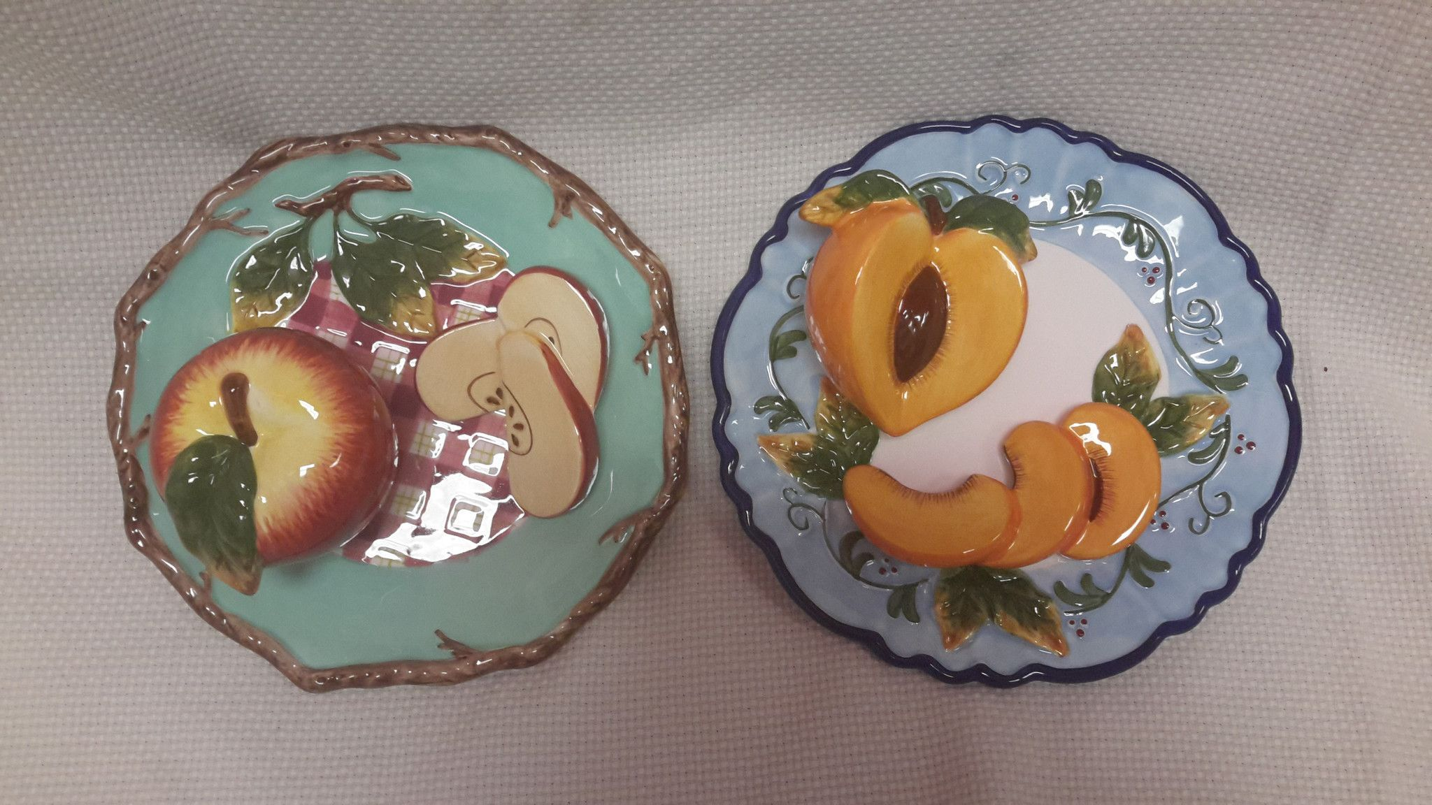 Bella Casa Ganz Wall Plates 3d Fruit Products Plates On Wall