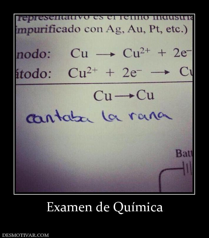 Examen De Quimica Nerd Humor Memes Humor