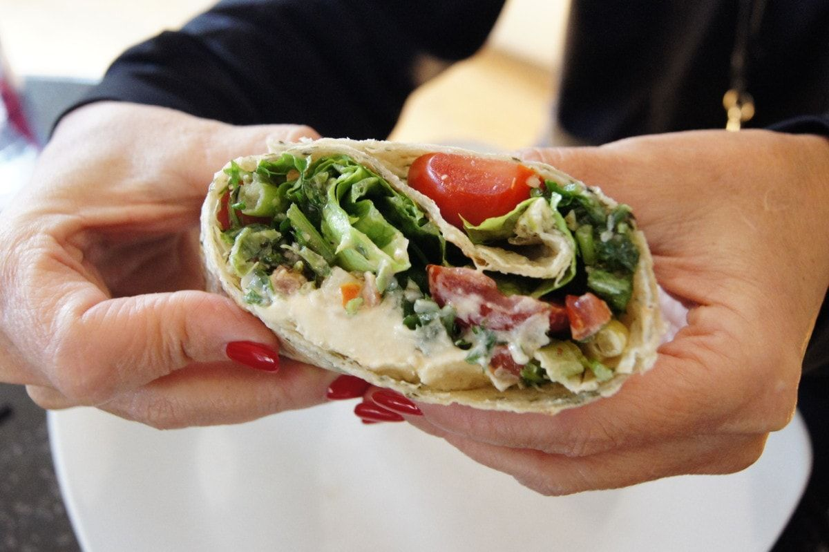 Skinny Roasted Bbq Cauliflower Panini Wrap Recipe Vegan