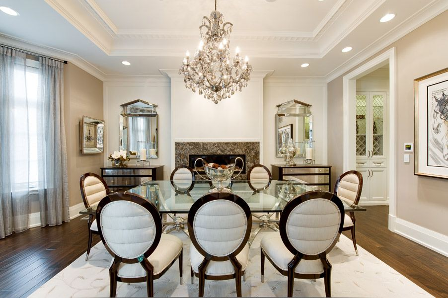 Luxury Residence Toronto Ontario Transitional Dining RoomsCrown