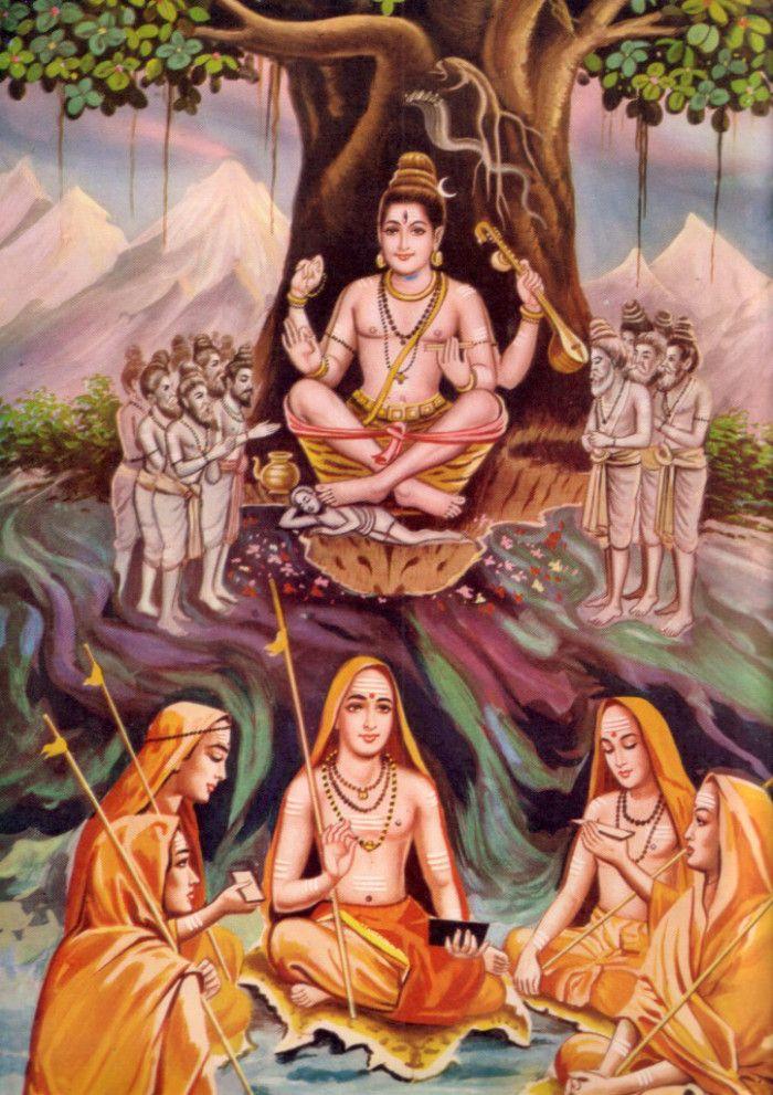 sankara-and-sishyas.jpg (700×991)   Adi Sankara, Dakshinamurthy ...