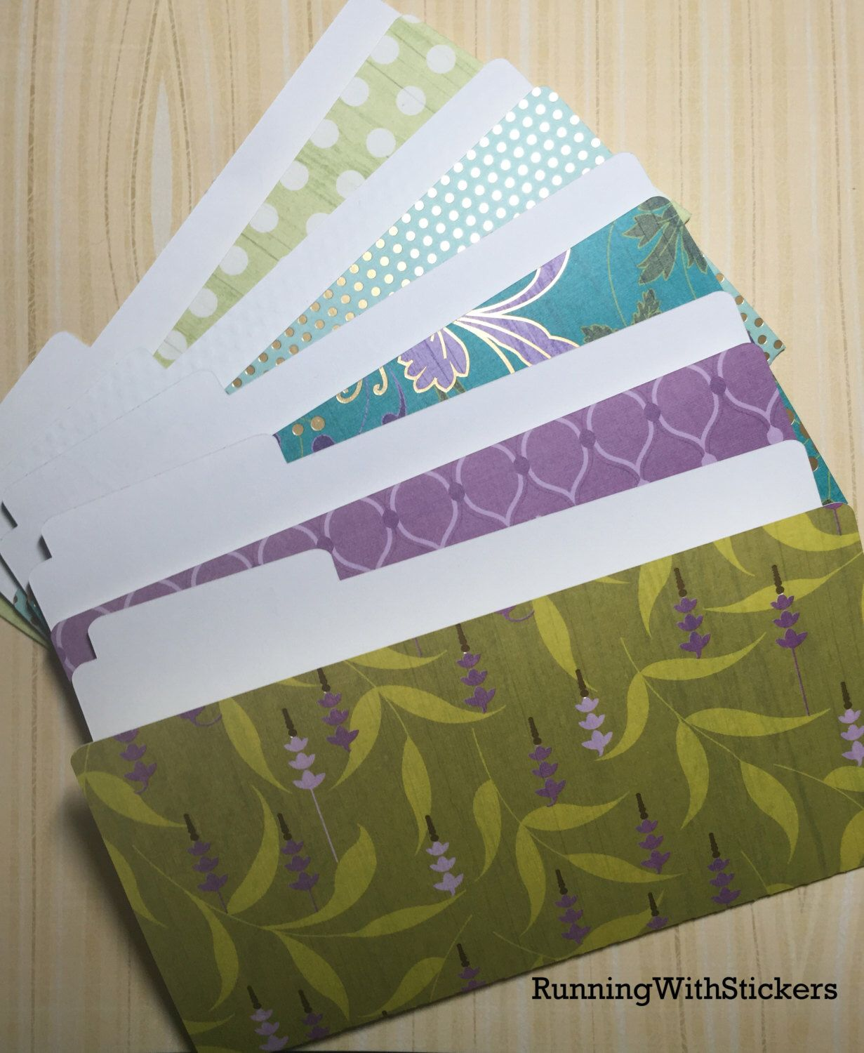 Diy file folder box to organize your stickers youtube - Mini File Folders One Of A Kind Green Teal Gold Lavender Great For Sticker Storage 0402161