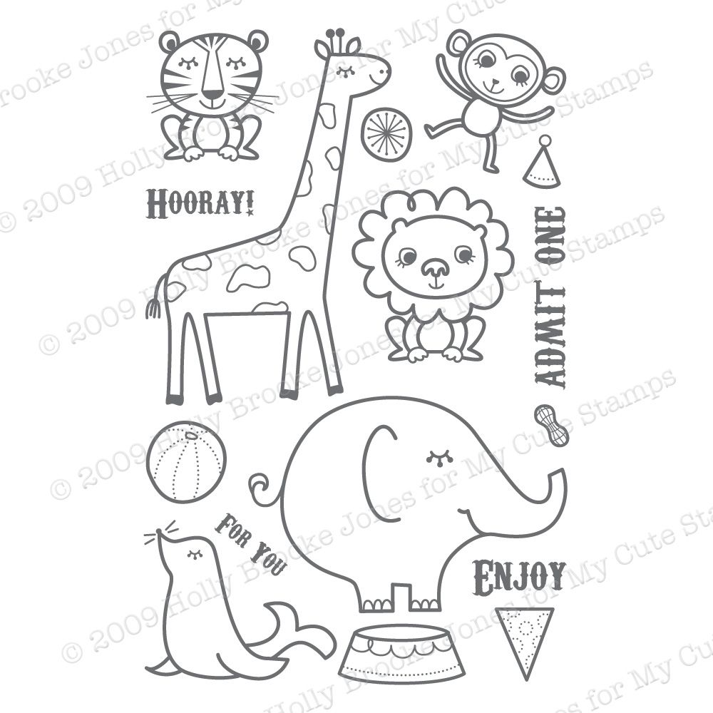 This is one of the cutest circus animal sets I have seen. Circus ...