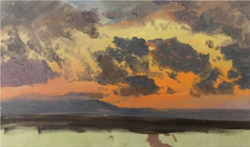 Sky at sunset, Jamaica, West Indies - Frederic Edwin Church