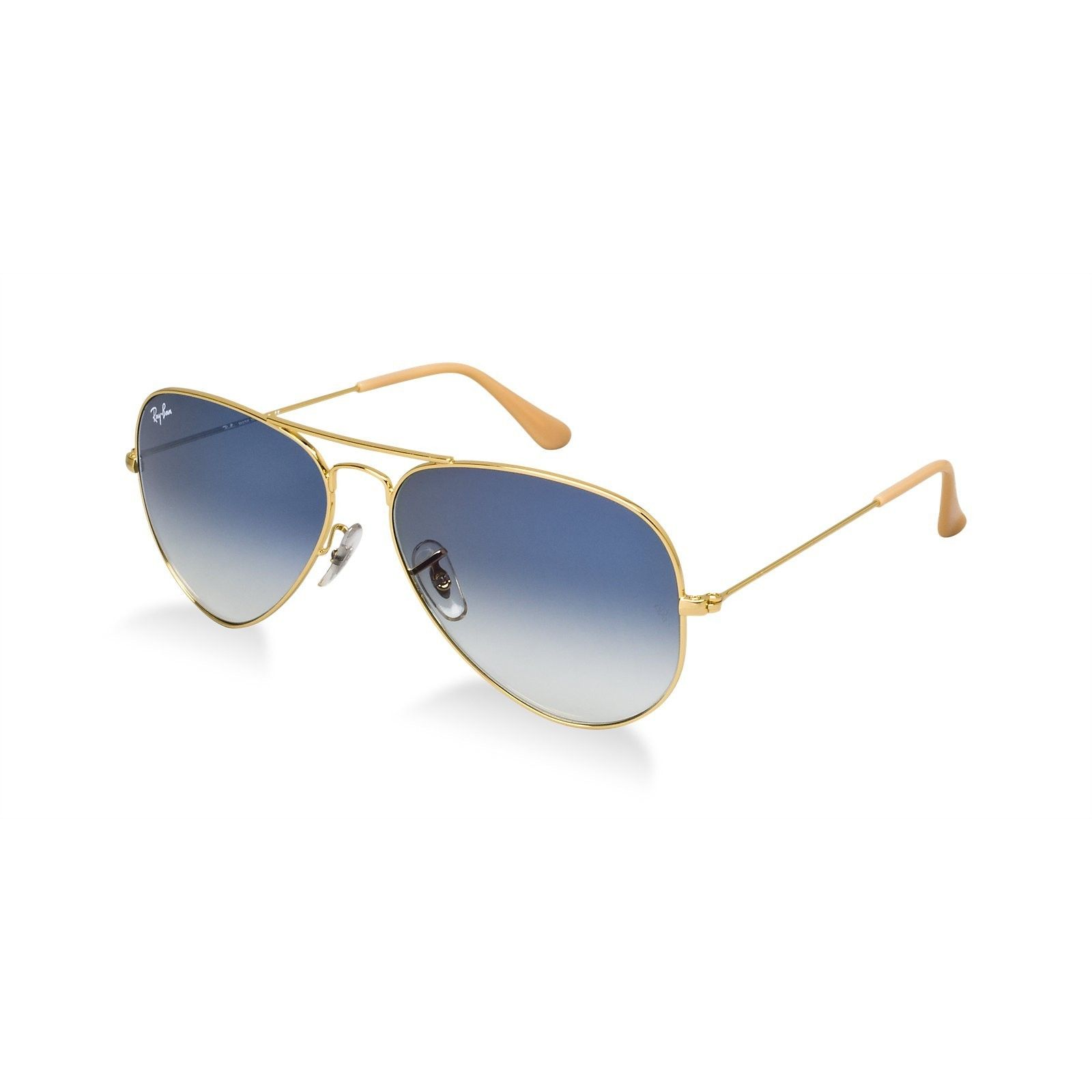 1bc2f465d622f Ray-Ban Aviator RB3025 Gold Aviator Light Blue Lenses Sunglasses (Aviator  Gold Aviator Light Blue Lenses Sunglasses)