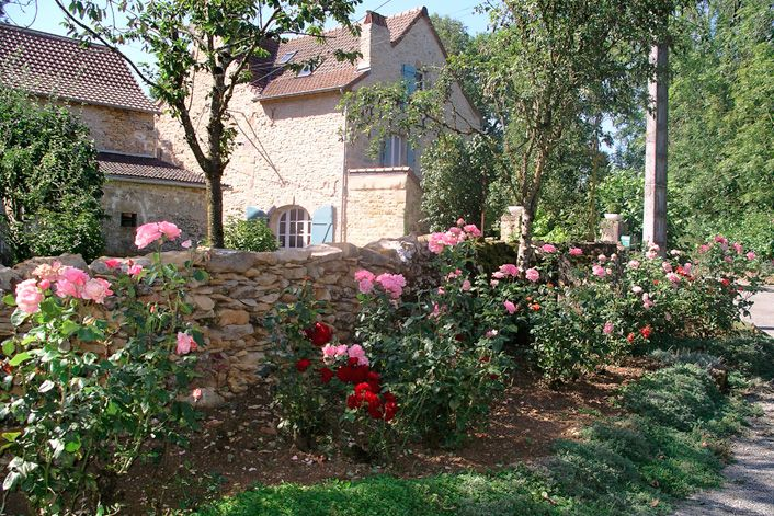 French Country Garden French Country House Garden French - French country garden