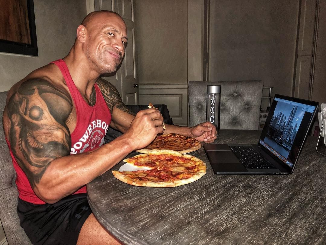 The Rock Pizza Strength Conditioning Coach Dwayne