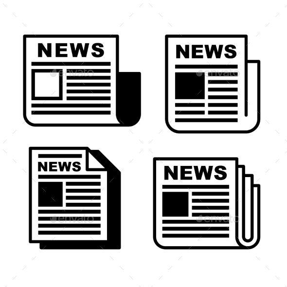 Newspaper Icons Set Icon Set Newspaper Logo Web Design Icon