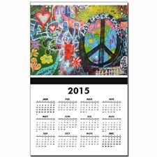 Graffiti in Prague Calendar Print for