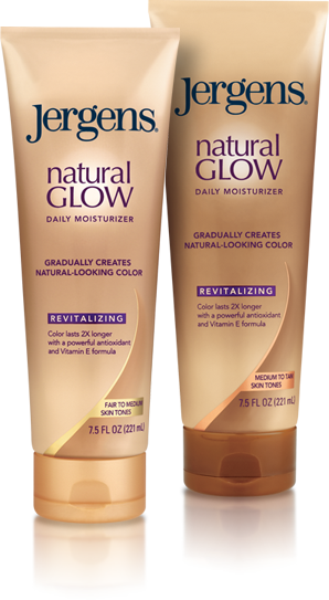 Jergens Natural glow tanning lotion and moisturizer use