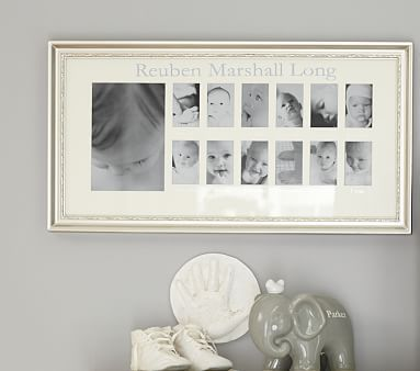 Silver Leaf First Year Frame | Nursery, Babies and Baby girl stuff
