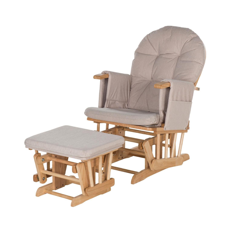 kiddicare recline glider chair and stool - kiddicare | shopping