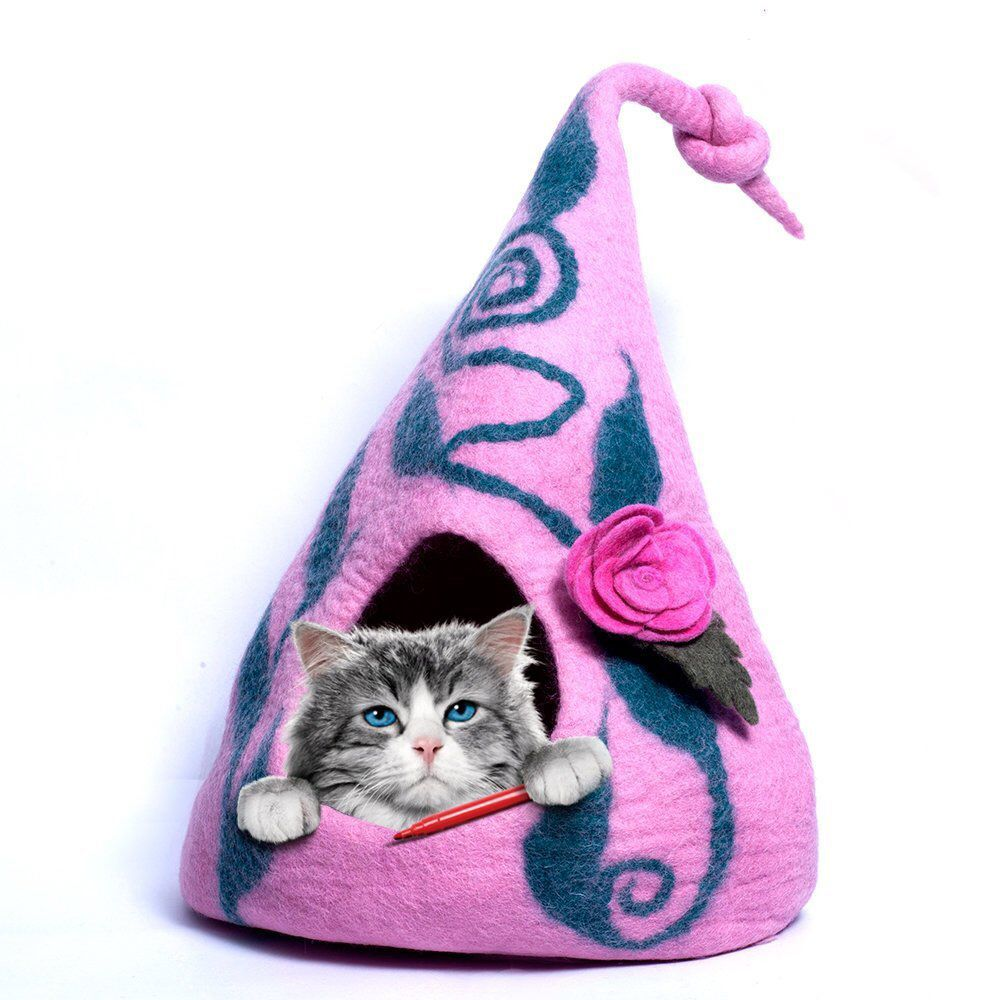 Cat cave, cat house, felt cat cave, handmade cat house