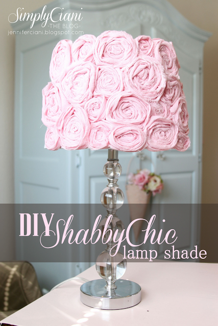 simply ciani diy shabby chic lampshade no instructions but it seems easy enough i can do. Black Bedroom Furniture Sets. Home Design Ideas