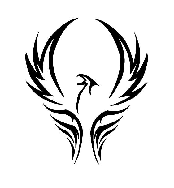 Gallery For Tribal Bird Png Tribal Phoenix Tattoo Small Phoenix Tattoos Phoenix Tattoo Design
