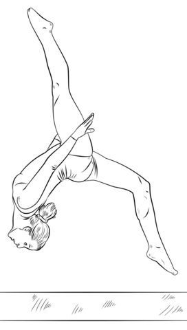 Gymnast On A Beam Coloring Page Free Printable Coloring Pages Dancing Drawings Drawing Tutorial Ballet Drawings