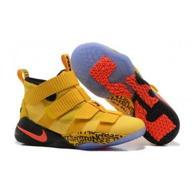 2cf08bd441a Nike LeBron Soldier 11 Men s Yellow Black Red