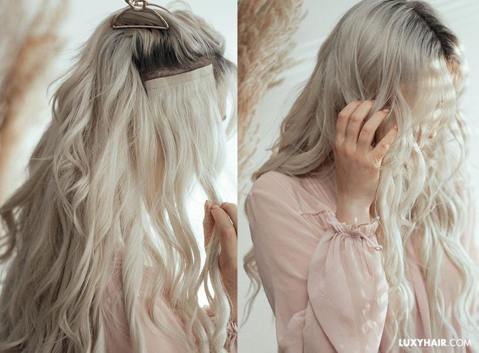Use Hair Extensions Like A Pro With These Tricks In 2020 Hair Extensions Tutorial Thick Hair Styles Luxy Hair