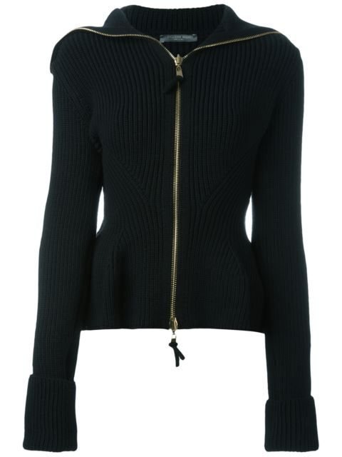 13fcc8fd37c Shop Alexander McQueen knit peplum jacket in Luisa World from the world s  best independent boutiques at