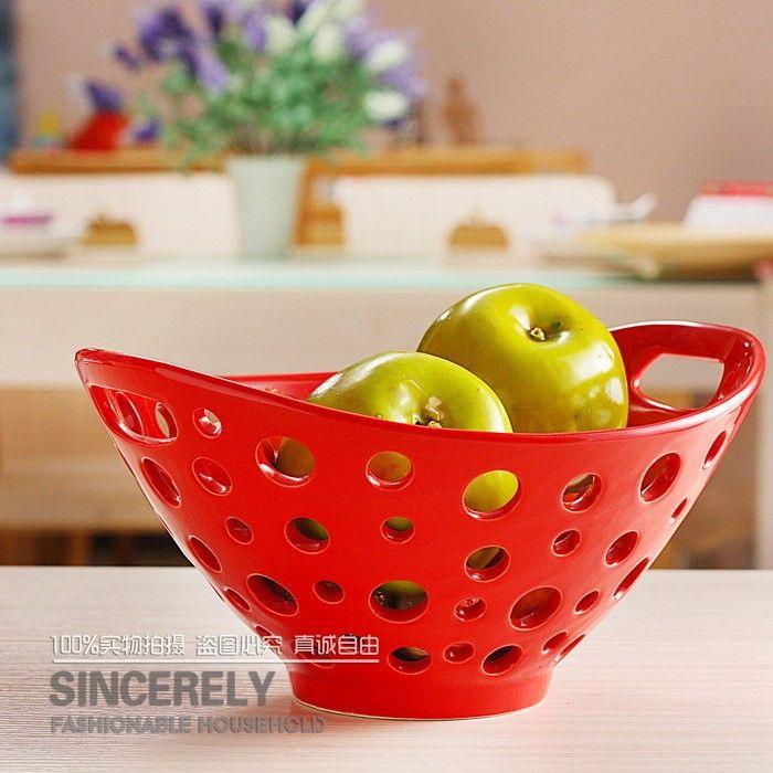 Modern Crafts European Modern Home Furnishings In Ceramic Fruit Bowl Carved  Baskets Of Fruit Blue Decoration