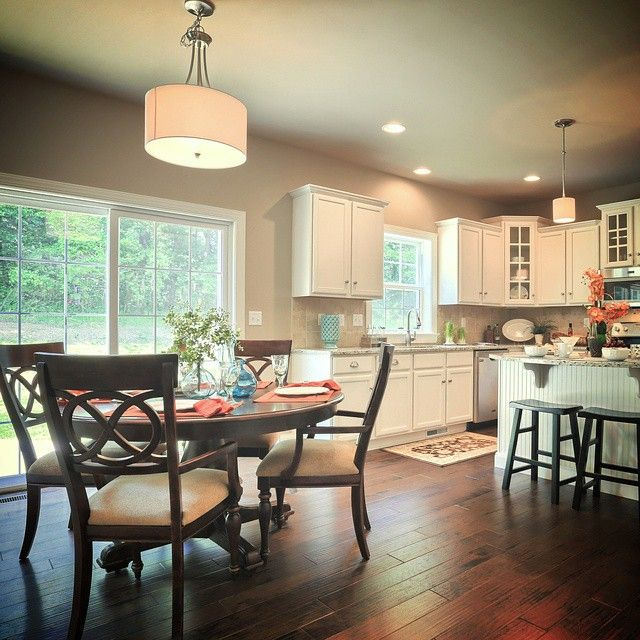 #Kitchen and #EatingArea in the #Ellsworth model at 887 Tolman Street, #Mechanicsburg in #OrchardGlen | #GarmanDetails