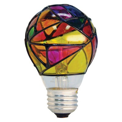 Stained Glass Lightbulb Light Bulb Crafts Light Bulb Art Stained Glass Light