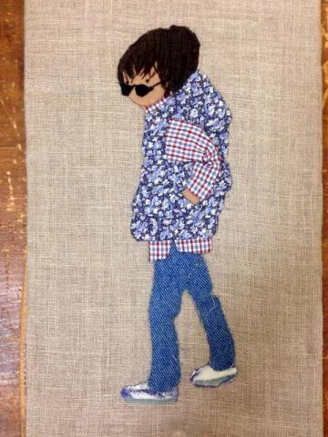 おシャレして・・ダウンベストの男の子 - パッチワークキルト・手芸キットのゆう風舎 Net Shop/from Srory quilt 2